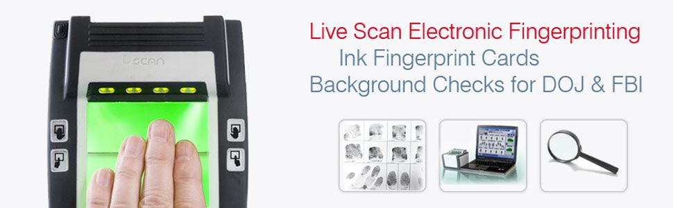 Live Scan Electronic Finger Printing